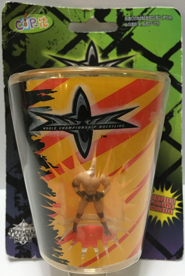 (TAS032799) - 1999 WCW Wrestling Plastic Cup-It - Goldberg, , Drinkware, Wrestling, The Angry Spider Vintage Toys & Collectibles Store  - 1