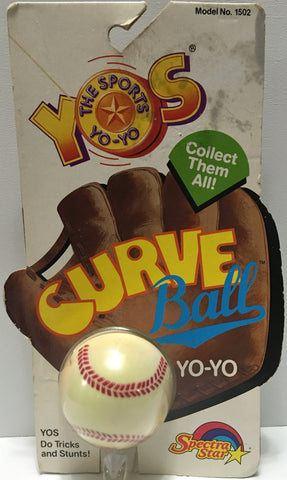 (TAS032805) - 1989 Spectra-Star The Sports Yo-Yo - MLB Curve Ball, , Yo-Yo, MLB, The Angry Spider Vintage Toys & Collectibles Store  - 1