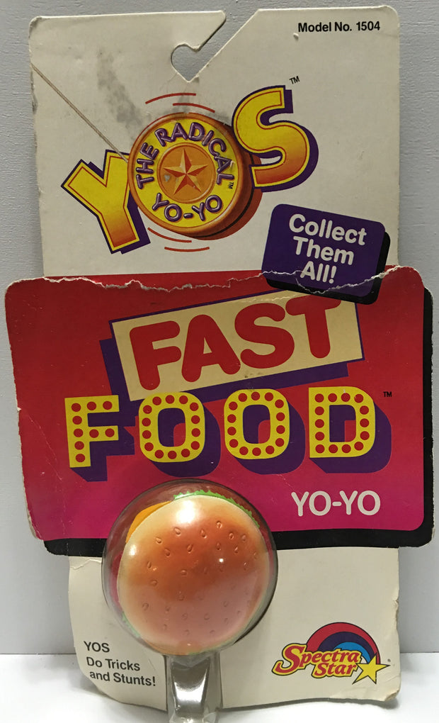 (TAS032806) - 1989 Spectra-Star The Radical Yo-Yo - Fast Food Yo-Yo - Burger, , Yo-Yo, Spectra Star, The Angry Spider Vintage Toys & Collectibles Store  - 1