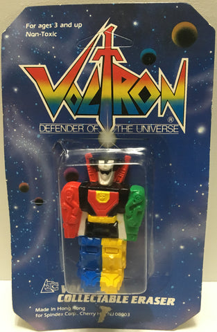 (TAS032807) - 1984 Spindex Voltron Defender of the Universe Collectable Eraser, , Pencils, Voltron, The Angry Spider Vintage Toys & Collectibles Store  - 1
