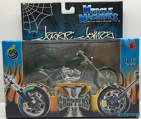 (TAS032825) - 2003 Muscle Machines 1:18 Die-Cast West Coast Choppers Jesse James, , Trucks & Cars, Muscle Machines, The Angry Spider Vintage Toys & Collectibles Store  - 1