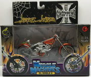 (TAS032826) - 2003 Muscle Machines 1:18 Die-Cast West Coast Choppers Jesse James, , Trucks & Cars, Muscle Machines, The Angry Spider Vintage Toys & Collectibles Store  - 1