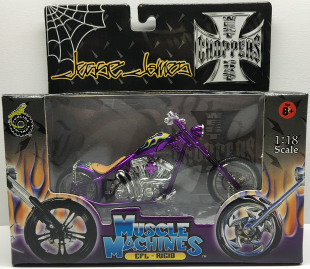 (TAS032828) - 2003 Muscle Machines 1:18 Die-Cast West Coast Choppers Jesse James, , Trucks & Cars, Muscle Machines, The Angry Spider Vintage Toys & Collectibles Store  - 1