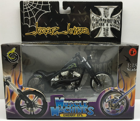 (TAS032829) - 2003 Muscle Machines 1:18 Die-Cast West Coast Choppers Jesse James, , Trucks & Cars, Muscle Machines, The Angry Spider Vintage Toys & Collectibles Store  - 1