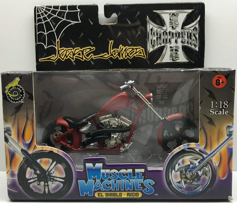 (TAS032830) - 2003 Muscle Machines 1:18 Die-Cast West Coast Choppers Jesse James, , Trucks & Cars, Muscle Machines, The Angry Spider Vintage Toys & Collectibles Store  - 1