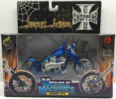 (TAS032831) - 2003 Muscle Machines 1:18 Die-Cast West Coast Choppers Jesse James, , Trucks & Cars, Muscle Machines, The Angry Spider Vintage Toys & Collectibles Store  - 1