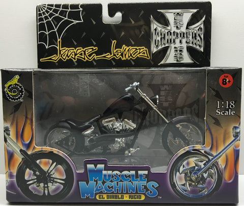 (TAS032833) - 2003 Muscle Machines 1:18 Die-Cast West Coast Choppers Jesse James, , Trucks & Cars, Muscle Machines, The Angry Spider Vintage Toys & Collectibles Store  - 1
