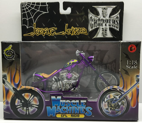 (TAS032836) - 2003 Muscle Machines 1:18 Die-Cast West Coast Choppers Jesse James, , Trucks & Cars, Muscle Machines, The Angry Spider Vintage Toys & Collectibles Store  - 1