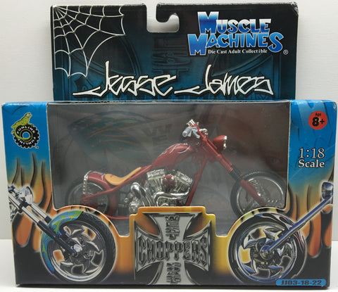 (TAS032838) - 2003 Muscle Machines 1:18 Die-Cast West Coast Choppers Jesse James, , Trucks & Cars, Muscle Machines, The Angry Spider Vintage Toys & Collectibles Store  - 1