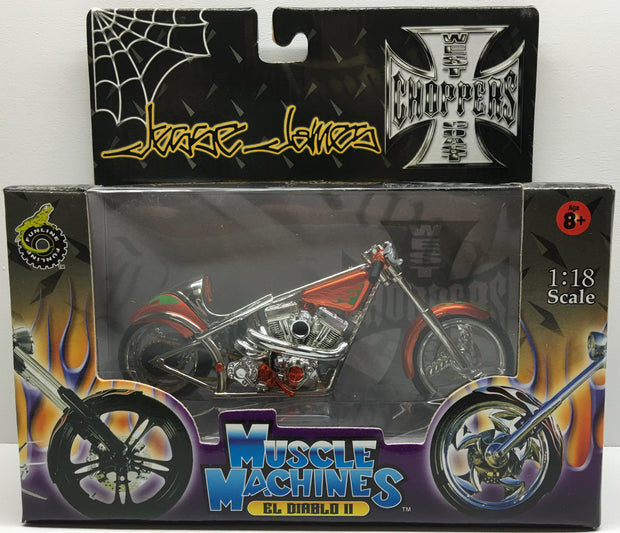 (TAS032839) - 2003 Muscle Machines 1:18 Die-Cast West Coast Choppers Jesse James, , Trucks & Cars, Muscle Machines, The Angry Spider Vintage Toys & Collectibles Store  - 1