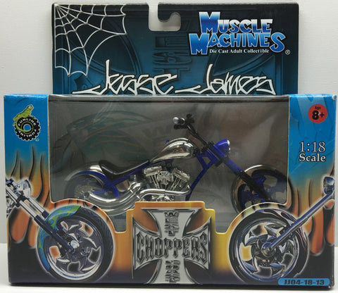 (TAS032840) - 2003 Muscle Machines 1:18 Die-Cast West Coast Choppers Jesse James, , Trucks & Cars, Muscle Machines, The Angry Spider Vintage Toys & Collectibles Store  - 1