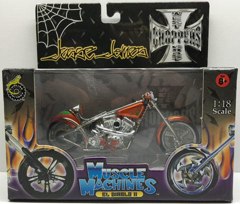 (TAS032841) - 2003 Muscle Machines 1:18 Die-Cast West Coast Choppers Jesse James, , Trucks & Cars, Muscle Machines, The Angry Spider Vintage Toys & Collectibles Store  - 1
