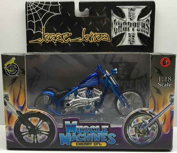 (TAS032842) - 2003 Muscle Machines 1:18 Die-Cast West Coast Choppers Jesse James, , Trucks & Cars, Muscle Machines, The Angry Spider Vintage Toys & Collectibles Store  - 1