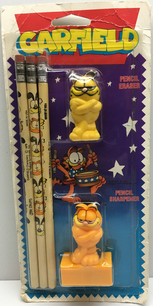 (TAS032845) - 1978 Garfield Pencil Eraser, Sharpener & Pencils, , Pencils, Garfield, The Angry Spider Vintage Toys & Collectibles Store  - 1