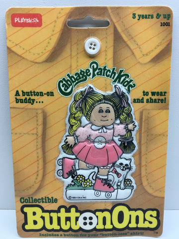 (TAS032852) - 1984 PlaySkool Collectible Cabbage Patch Kids ButtonOns, , Buttons, Cabbage Patch Kids, The Angry Spider Vintage Toys & Collectibles Store  - 1