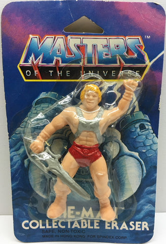 (TAS032857) - 1984 Mattel Masters Of The Universe Collectable Eraser - He-Man, , Pencils, MOTU, The Angry Spider Vintage Toys & Collectibles Store  - 1