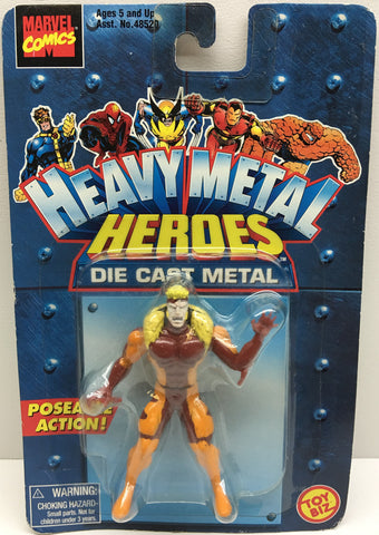 (TAS032858) - Toy Biz Marvel Heavy Metal Heroes Die-Cast Figure - Sabretooth, , Action Figure, X-Men, The Angry Spider Vintage Toys & Collectibles Store