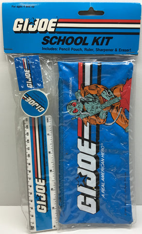 (TAS032861) - 1987 Hasbro G.I. Joe School Kit - Pencil Pouch, Sharpener, Eraser, , Study Kit, G.I. Joe, The Angry Spider Vintage Toys & Collectibles Store  - 1