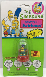 (TAS032862) - 1990 Noteworthy The Simpsons Ink Stamper Twirlems - Bart Simpson, , Stampers, The Simpsons, The Angry Spider Vintage Toys & Collectibles Store  - 1