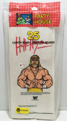 (TAS032865) - 1991 Titan Sports WWE WWF Wrestling Lunch Bags - Hulk Hogan, , Lunchbox, Wrestling, The Angry Spider Vintage Toys & Collectibles Store  - 1