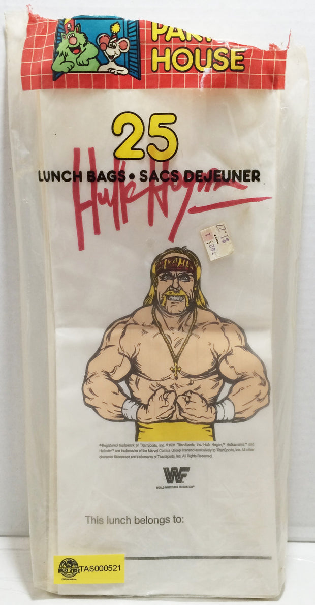 (TAS032866) - 1991 Titan Sports WWE WWF Wrestling Lunch Bags - Hulk Hogan, , Lunchbox, Wrestling, The Angry Spider Vintage Toys & Collectibles Store  - 1