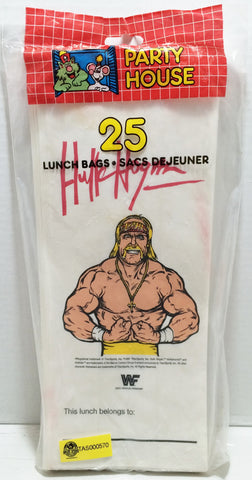 (TAS032870) - 1991 Titan Sports WWE WWF Wrestling Lunch Bags - Hulk Hogan, , Lunchbox, Wrestling, The Angry Spider Vintage Toys & Collectibles Store  - 1