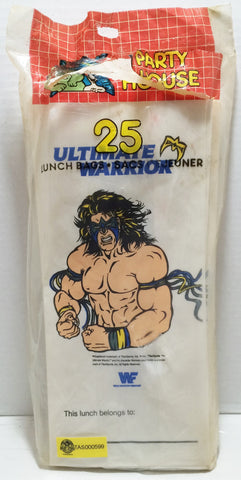 (TAS032872) - 1991 Titan Sports WWE WWF Wrestling Lunch Bags - Ultimate Warrior, , Lunchbox, Wrestling, The Angry Spider Vintage Toys & Collectibles Store  - 1