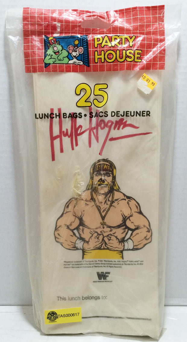 (TAS032875) - 1991 Titan Sports WWE WWF Wrestling Lunch Bags - Hulk Hogan, , Lunchbox, Wrestling, The Angry Spider Vintage Toys & Collectibles Store  - 1