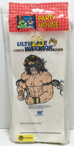 (TAS032876) - 1991 Titan Sports WWE WWF Wrestling Lunch Bags - Ultimate Warrior, , Lunchbox, Wrestling, The Angry Spider Vintage Toys & Collectibles Store  - 1