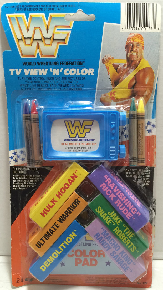 (TAS032877) - 1991 Titan Sports WWF WWE Wrestling TV View 'N' Color - Hulk Hogan, , Game, Wrestling, The Angry Spider Vintage Toys & Collectibles Store  - 1