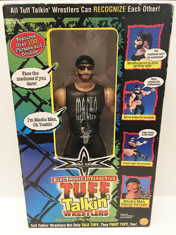 (TAS032896) - 1999 Toy Biz WCW Tuff Talkin' Wrestlers - Macho Man Randy Savage, , Action Figure, Wrestling, The Angry Spider Vintage Toys & Collectibles Store  - 1