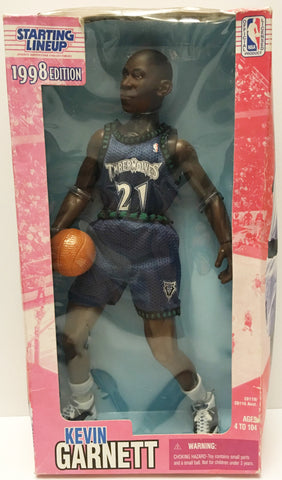 (TAS032897) - 1998 Kenner Starting Lineup NBA Figure - Kevin Garnett, , Action Figure, NBA, The Angry Spider Vintage Toys & Collectibles Store  - 1