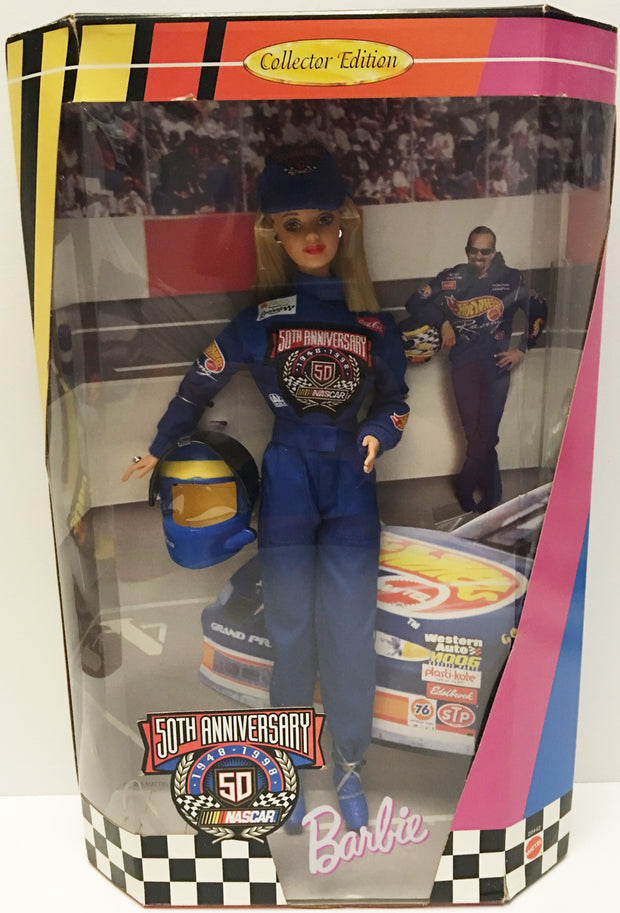 (TAS032898) - Mattel 50th Anniversary Nascar Barbie - Hot Wheels Kyle Petty, , Action Figure, NASCAR, The Angry Spider Vintage Toys & Collectibles Store  - 1