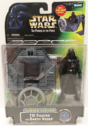 (TAS032941) - 1997 Hasbro Star Wars Gunner Station Tie Fighter Darth Vader, , Action Figure, Star Wars, The Angry Spider Vintage Toys & Collectibles Store  - 1