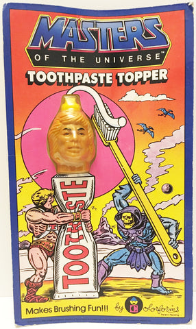 (TAS032950) - 1984 Colorforms Masters Of The Universe Toothpaste Topper He-Man, , Bath, MOTU, The Angry Spider Vintage Toys & Collectibles Store  - 1