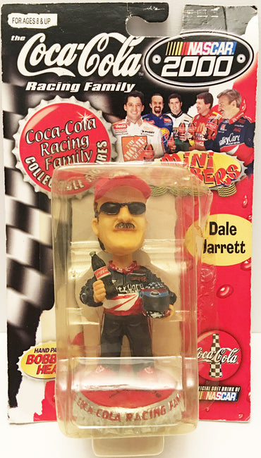 (TAS032954) - 2000 Nascar The Coca-Cola Racing Family Bobble Head - Dale Jarrett, , Bobblehead, NASCAR, The Angry Spider Vintage Toys & Collectibles Store  - 1