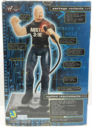 (TAS032976) - 1999 Jakks WWF WWE Internet-Active Electronic Figure Steve Austin, , Action Figure, Wrestling, The Angry Spider Vintage Toys & Collectibles Store  - 3