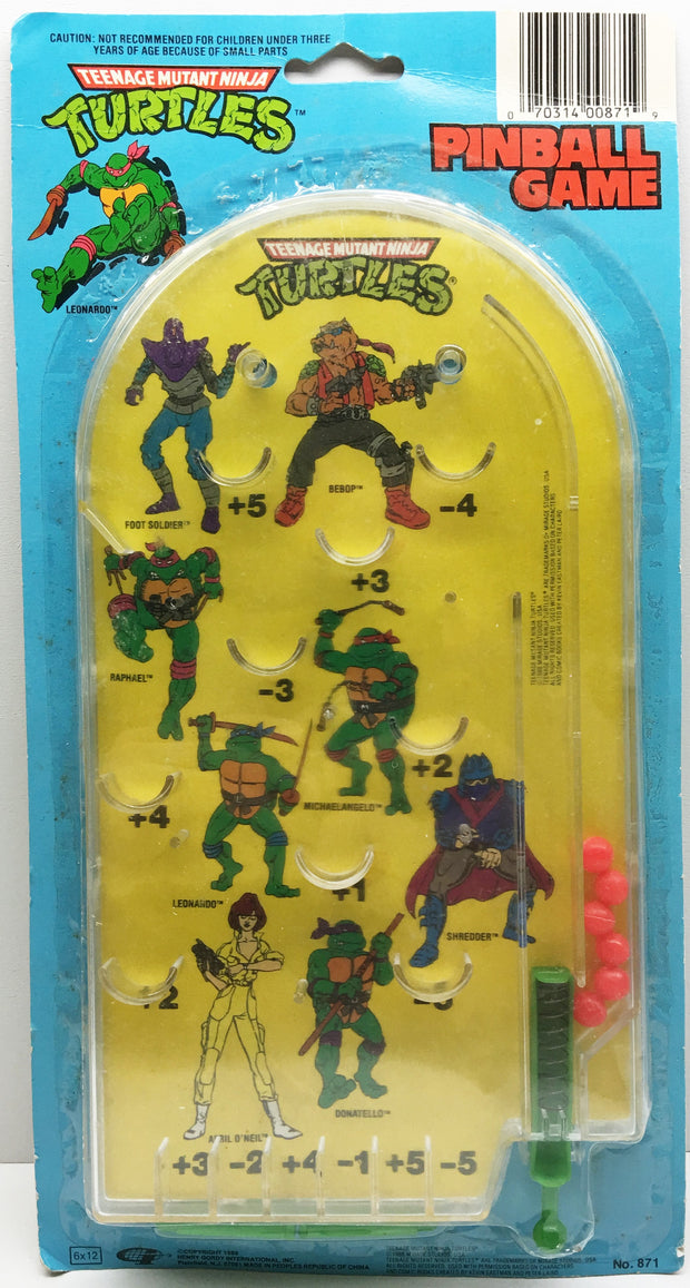 (TAS032980) - 1988 Mirage Teenage Mutant Ninja Turtles Pinball Game, , Game, TMNT, The Angry Spider Vintage Toys & Collectibles Store  - 1