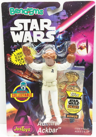 (TAS032992) - 1994 Just Toys Star Wars Bend-Ems Action Figure - Admiral Ackbar, , Action Figure, Star Wars, The Angry Spider Vintage Toys & Collectibles Store  - 1