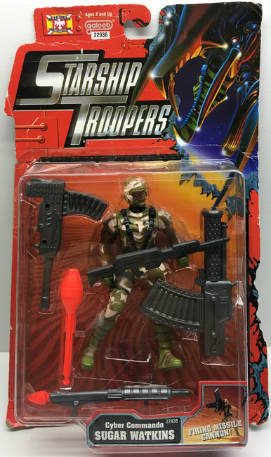 (TAS032997) - 1997 Galoob Starship Troopers - Cyber Commando Sugar Watkins, , Action Figure, Galoob, The Angry Spider Vintage Toys & Collectibles Store  - 1