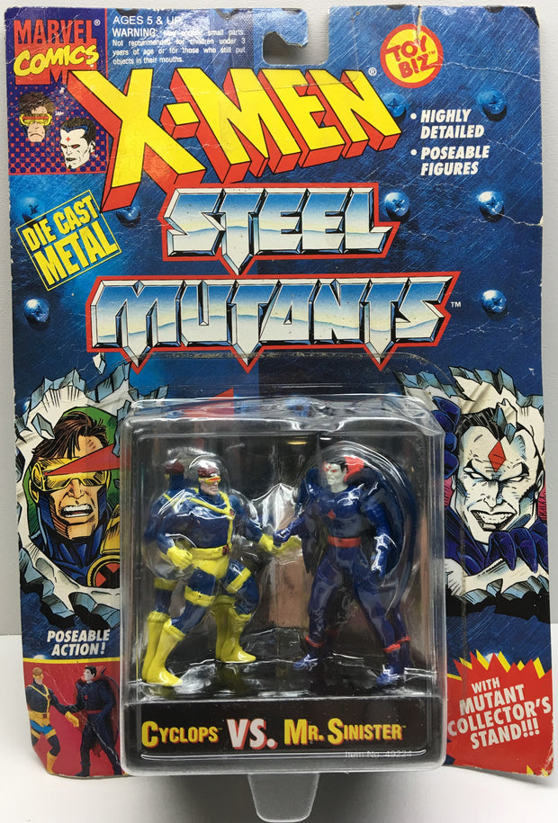 (TAS032998) - 1994 Toy Biz Marvel X-Men Steel Mutants - Cyclops vs. Mr. Sinister, , Action Figure, X-Men, The Angry Spider Vintage Toys & Collectibles Store  - 1