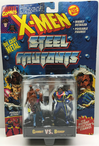 (TAS032999) - 1994 Toy Biz Marvel X-Men Steel Mutants - Gambit vs. Bishop, , Action Figure, X-Men, The Angry Spider Vintage Toys & Collectibles Store  - 1
