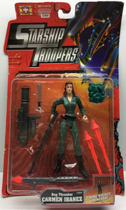 (TAS033001) - 1997 Galoob Starship Troopers - Bug Thrasher Carmen Ibanez, , Action Figure, Galoob, The Angry Spider Vintage Toys & Collectibles Store  - 1