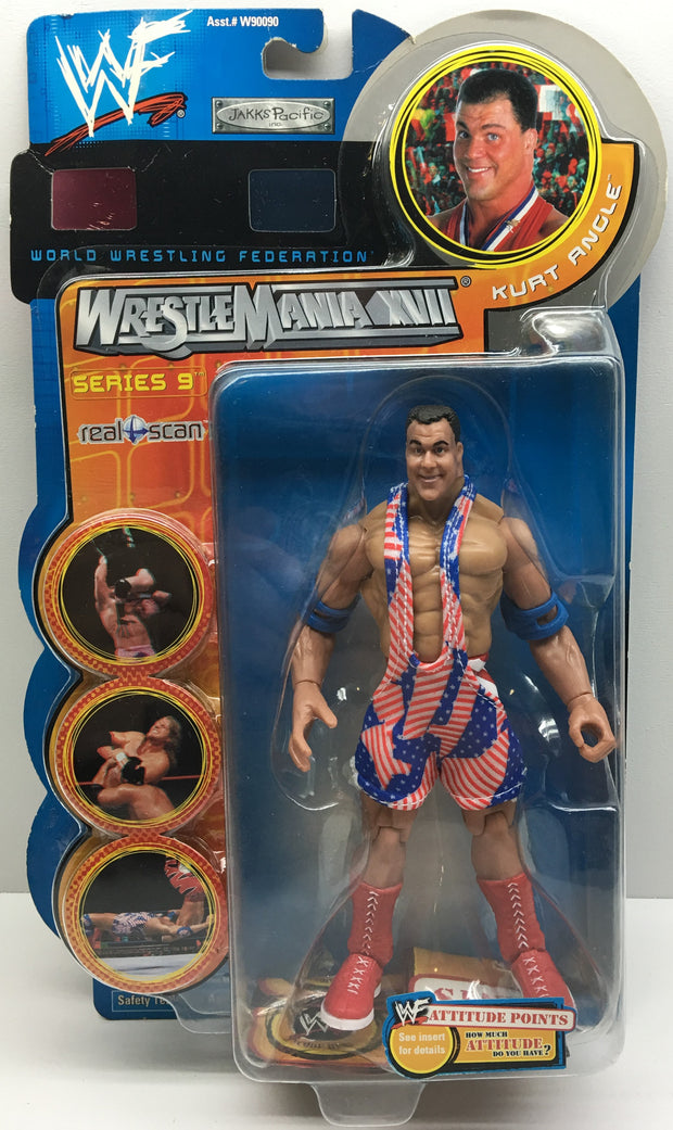 (TAS033002) - 2001 Jakks WWF WWE WrestleMania XVII - Kurt Angle, , Action Figure, Wrestling, The Angry Spider Vintage Toys & Collectibles Store  - 1