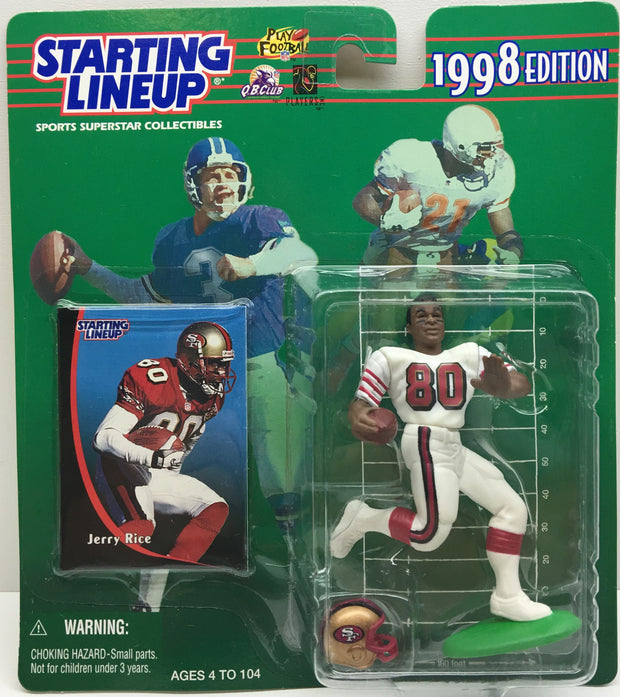 (TAS033005) - 1998 Kenner NFL Starting Lineup Superstar - Jerry Rice, , Action Figure, NFL, The Angry Spider Vintage Toys & Collectibles Store  - 1