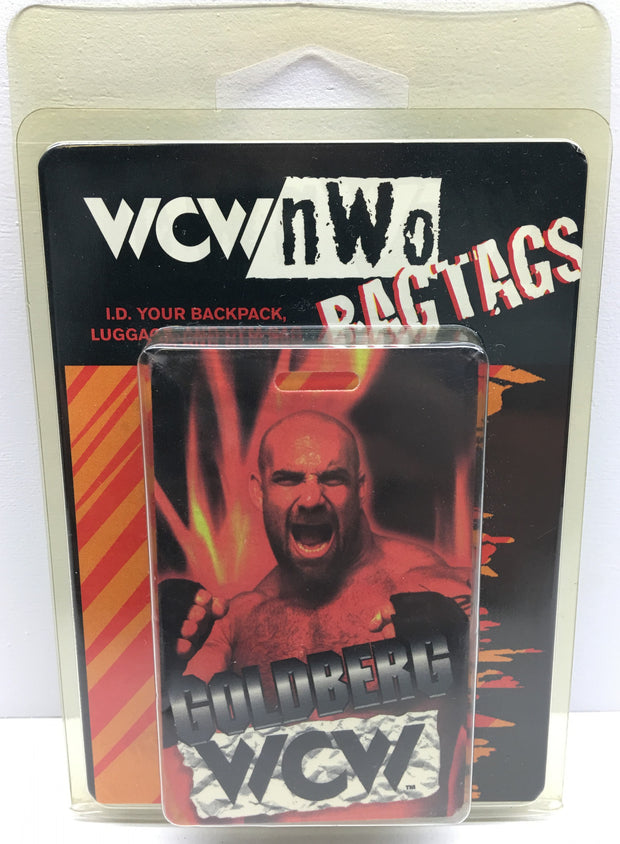 (TAS033009) - 1999 Kittrich WCW / nWo Wrestling Bag Tags - Goldberg, , Other, Wrestling, The Angry Spider Vintage Toys & Collectibles Store  - 1