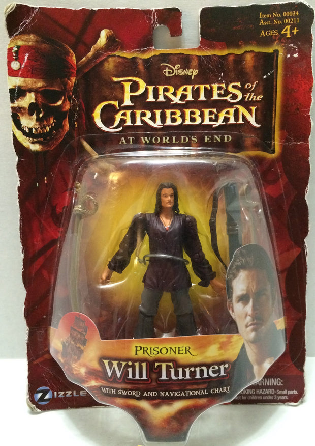 (TAS033017) - 2007 Disney Pirates Of The Caribbean - Prisoner Will Turner, , Action Figure, Disney, The Angry Spider Vintage Toys & Collectibles Store  - 1