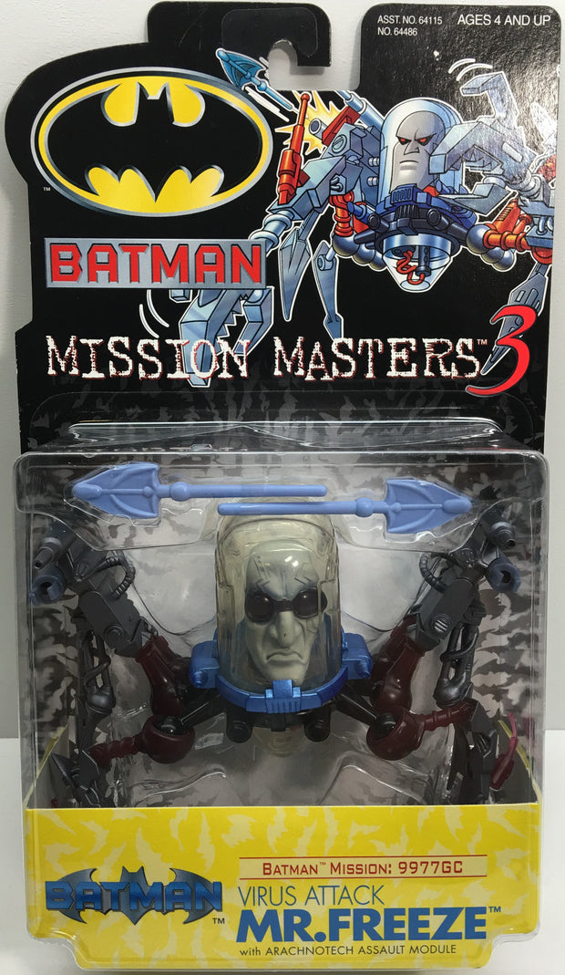 (TAS033060) - 2000 Hasbro Batman Mission Masters 3 - Virus Attack Mr. Freeze, , Action Figure, Batman, The Angry Spider Vintage Toys & Collectibles Store  - 1