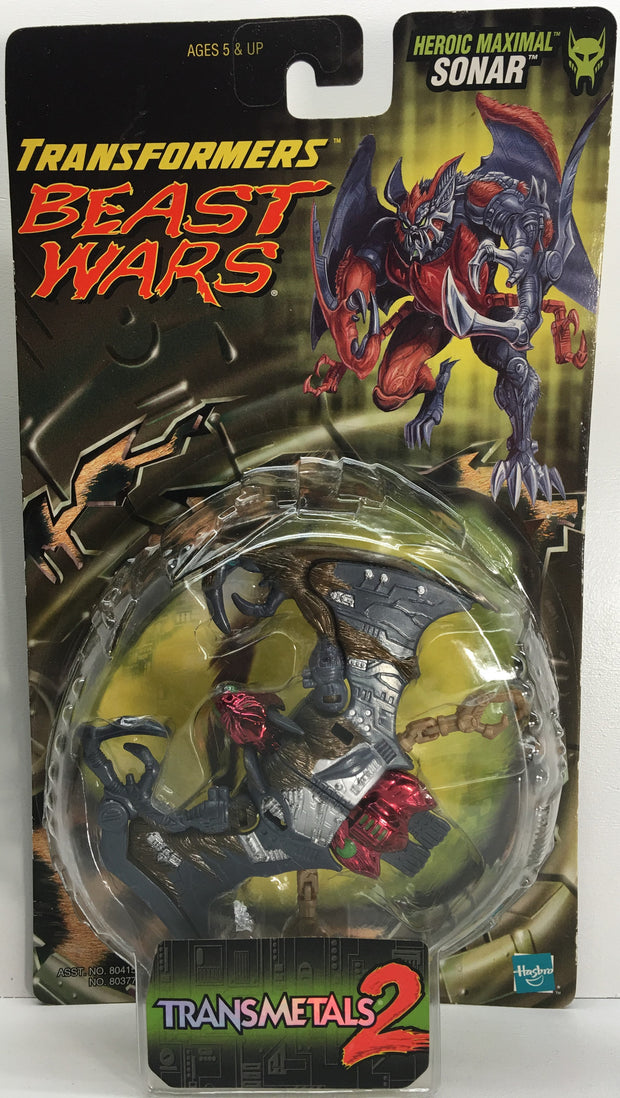 (TAS033070) - 1998 Hasbro Transformers Beast Wars Transmetals 2 Maximal Sonar, , Action Figure, Transformers, The Angry Spider Vintage Toys & Collectibles Store  - 1