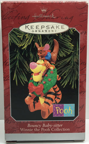 (TAS033083) - 1998 Hallmark Keepsake Ornament Bouncy Baby-Sitter Winnie The Pooh, , Ornament, Hallmark, The Angry Spider Vintage Toys & Collectibles Store  - 1